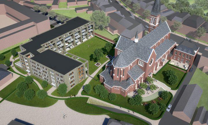 Voortgang realisatie appartementen Heilig Hart Kerk, Breda